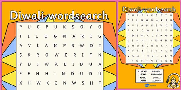 Diwali Wordsearch - diwali, wordsearch, word search, word game, word activities, key words, word, themed wordsearch, wet play, themed games, themed activity