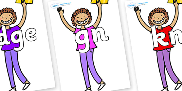 Silent Letters on Violet Beauregarde - Silent Letters, silent letter, letter blend, consonant, consonants, digraph, trigraph, A-Z letters, literacy, alphabet, letters, alternative sounds