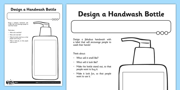 Design a Handwash - hygiene, keeping clean, hand washing, clean, cleanliness, wash