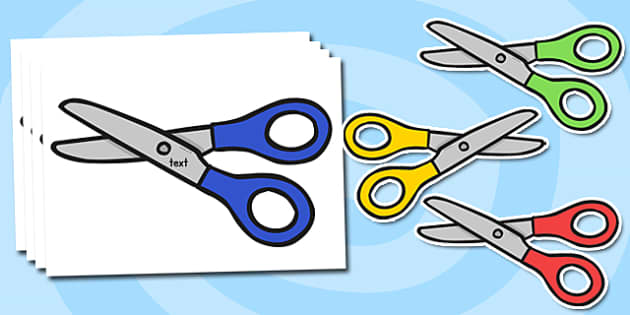 Blank Editable Scissors Display Cut Outs - scissors, equipment, display, technology, design, labels