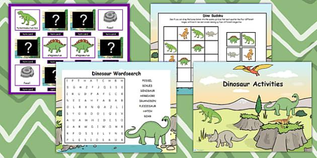 Dinosaur Themed Flipchart Activity Pack - dinosaur, activity pack