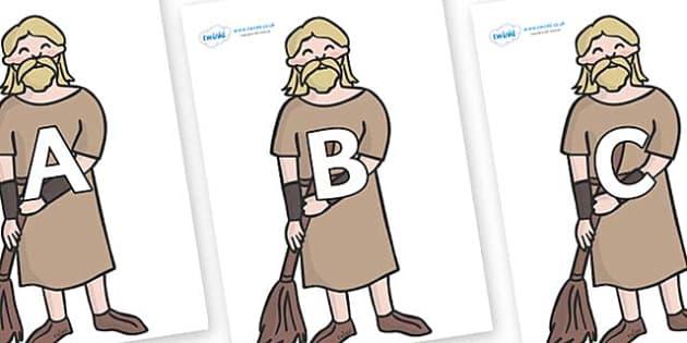 A-Z Alphabet on Pesants - A-Z, A4, display, Alphabet frieze, Display letters, Letter posters, A-Z letters, Alphabet flashcards