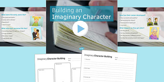 Imaginary Character Building PowerPoint - imaginary, character, building