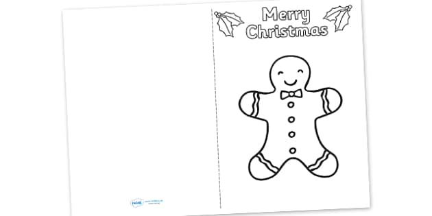 Gingerbread Man Christmas Card Templates - cards, card, templates, christmas card template, make your own christmas cards, gingerbread man christmas cards, gingerbread man, make your own card, blank card, card design, design your own card, craft
