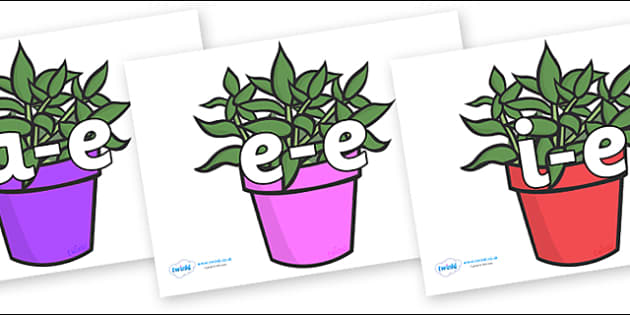 Modifying E Letters on Plants - Modifying E, letters, modify, Phase 5, Phase five, alternative spellings for phonemes, DfES letters and Sounds