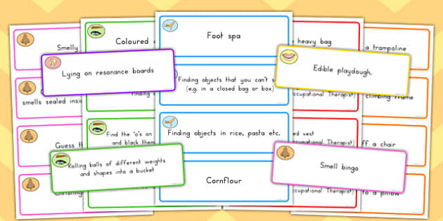 Sensory Activity Cards - Australia, sense, feel, speech and language, PSHE