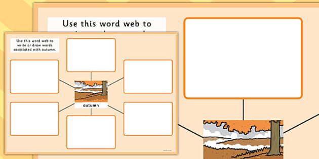Autumn Pre-Teaching Word Web - autumn, pre-teaching, word web