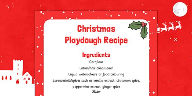Christmas Playdough Recipe - christmas, playdough, recipe, eyfs