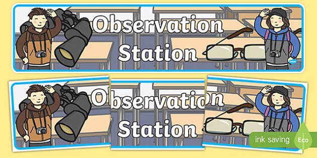 Observation Station Display Banner - observation station, display banner, display, banner