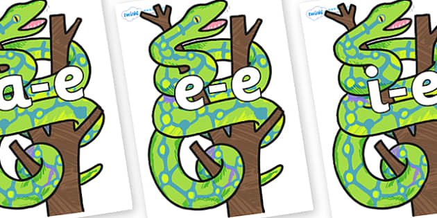 Modifying E Letters on Boa Constrictor to Support Teaching on The Bad Tempered Ladybird - Modifying E, letters, modify, Phase 5, Phase five, alternative spellings for phonemes, DfES letters and Sounds