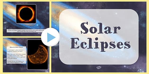 Solar Eclipse Information PowerPoint - solar, eclipse, powerpoint