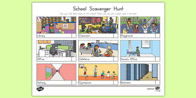 School Scavenger Hunt Game