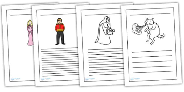 Traditional Tales Themed Writing Frames - traditional tales, writing frames, writing aid, writing templates, writing guides, guided writing, lined pages
