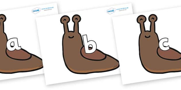 Phase 2 Phonemes on Slugs - Phonemes, phoneme, Phase 2, Phase two, Foundation, Literacy, Letters and Sounds, DfES, display
