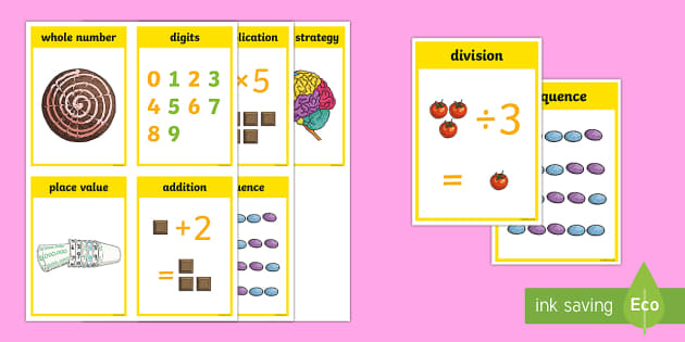 CfE First Level Numeracy and Mathematics Number and Number Processes Keyword Flashcards-Scottish - Wall Display, keywords, MNU 1-02a, MNU 1-03a, language of maths, vocabulary, word wall,Scottish
