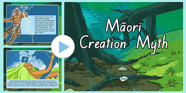 A Maori Creation Myth PowerPoint - nz, new zealand, Maori, myth, creation
