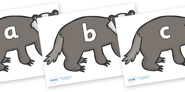 Phase 2 Phonemes on Badgers - Phonemes, phoneme, Phase 2, Phase two, Foundation, Literacy, Letters and Sounds, DfES, display