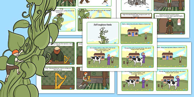 Jack and the Beanstalk Story 4 per A4 Cards Polish - polish