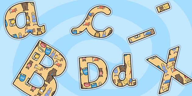 Goldilocks and the Three Bears Themed Display Lettering - goldilocks and the three bears, display lettering, themed lettering, lettering for display