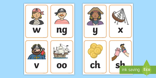 Pirate Theme Phonics Working Wall - Pirates Literacy Primary Resources, pirate, words