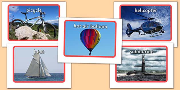 Transport Photo Pack - transport, photo pack, photo, pack, eal, language