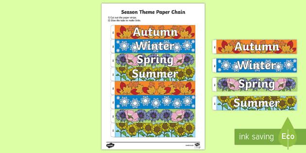 Seasons Paper Chain Activity