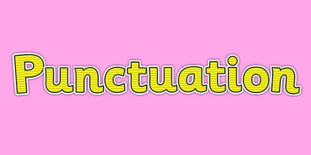 Punctuation Display Lettering Yellow - punctuation, display lettering, vcop, display, lettering, yellow