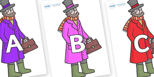 A-Z Alphabet on Doctor Foster - A-Z, A4, display, Alphabet frieze, Display letters, Letter posters, A-Z letters, Alphabet flashcards