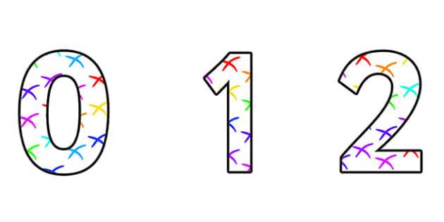 Coordinates Display Numbers - coordinates, coordinates themed numbers, coordinates numbers, coordinates cut out numbers, coordinates themed display numbers