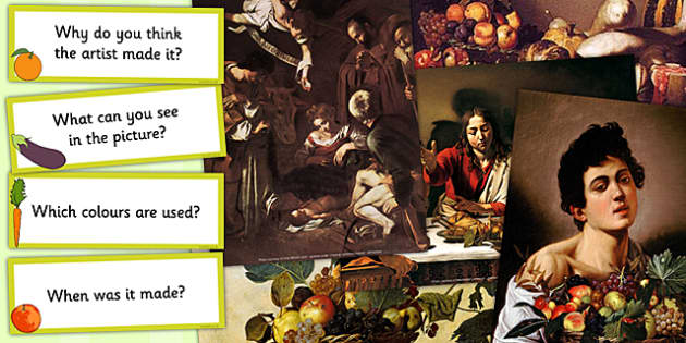 Caravaggio Photopack and Prompt Questions - photo, pack, prompts