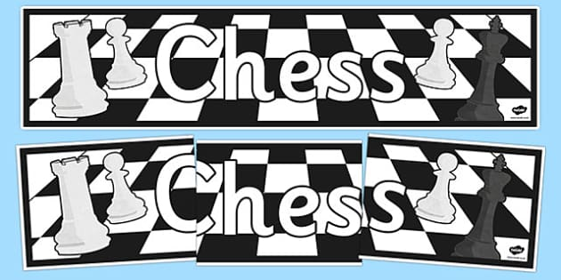 Chess Display Banner - chess, display banner, display, banner