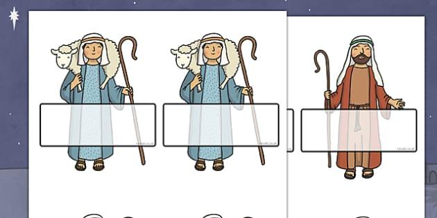 Self Registration Labels (Nativity Scene) Editable - christmas