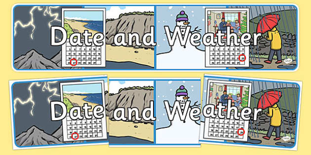 Date and Weather Display Banner - date, weather, days, weeks