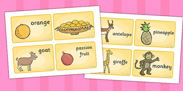 African Surprise Story Sequencing 4 Per A4 - order, ordering
