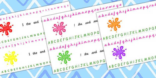 Splat Alphabet Strips - splat, alphabet, strips, alphabet strips
