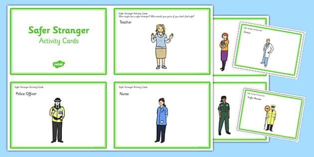 Safer Stranger Activity Cards - safer stranger, safe, stranger, activity, cards