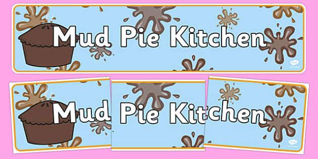 Mud Pie Kitchen Banner - mud pie, kitchen, recipes, cooking