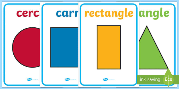 2D Shape Posters - french, 2d shape, poster, display, display poster, geometry,2Dshape