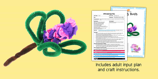 Spring Buds Craft EYFS Adult Input Plan and Resource Pack - adult led, craft, spring