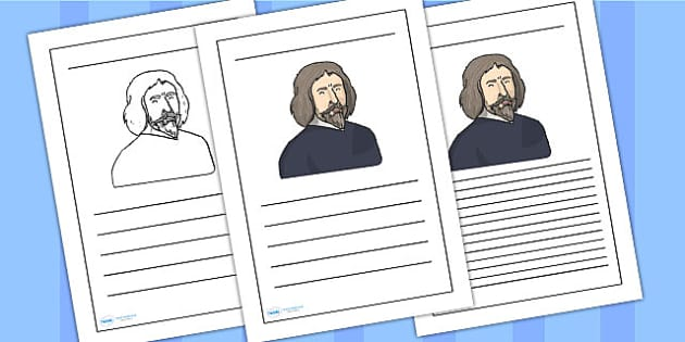 William Harvey Writing Frame - william harvey, writing frame, writing template, writing guide, writing aid, line guide, themed writing frames, lined pages