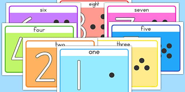 Basic 1-20 Number Playdough Mats - australia, playdough, mat