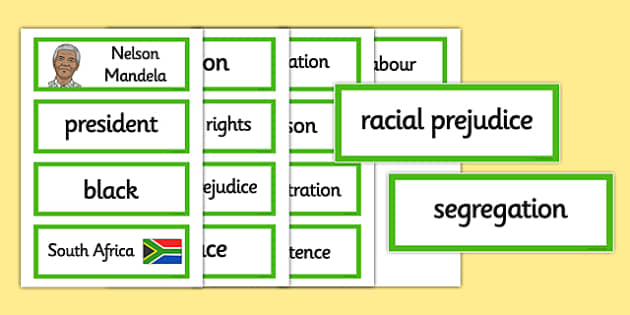 Nelson Mandela Word Cards - nelson mandela, word cards, cards