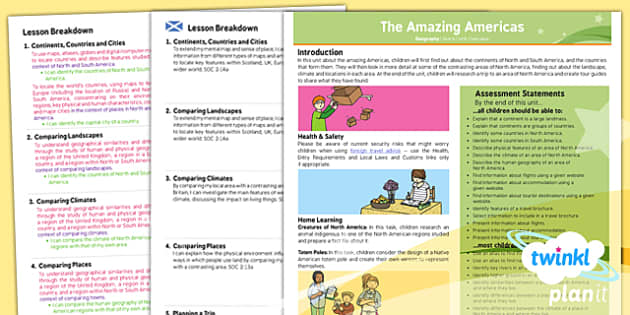 PlanIt - Geography Year 6 - The Amazing Americas Planning Overview CfE - CfE, Planit, Geography, People and Place, continents, North America, Alaska