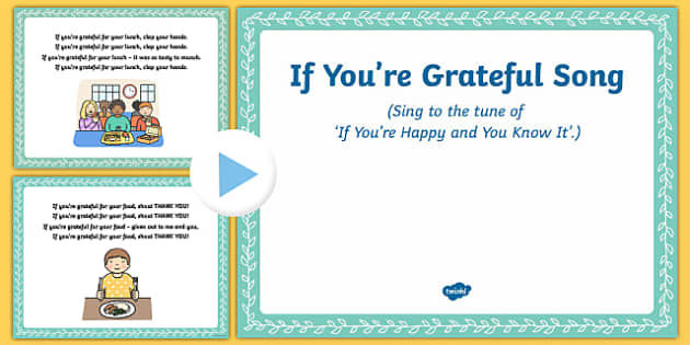 If You're Grateful Song PowerPoint