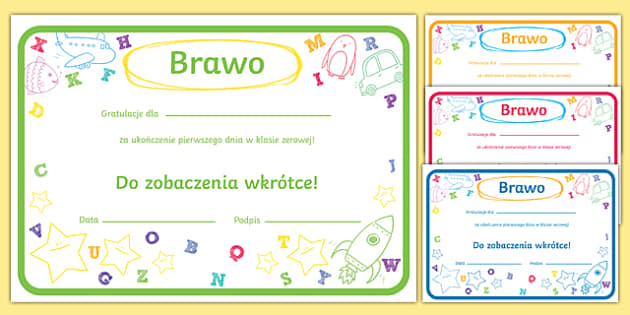 First Day Award Certificates Reception Polish-Polish