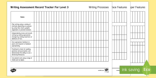 New Zealand Level 3 Writing Assessment Tracker - Writing, Level 3, Assessment, tracker
