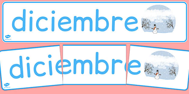 Diciembre Display Banner Spanish - spanish, year, months of the year, december