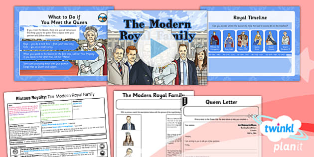 PlanIt - History LKS2 - Riotous Royalty Lesson 6: The Modern Royal Family Lesson Pack - Diana, queen, king, Britain, charles