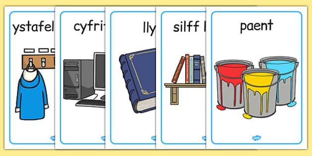Offer Dosbarth Display Posters Cymraeg - cymraeg, welsh, classroom, objects, display posters, display, posters