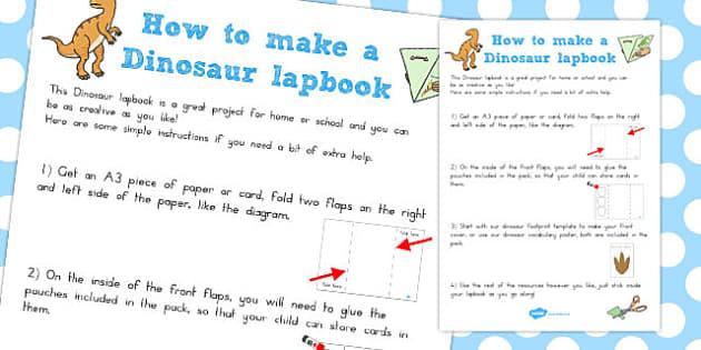 Dinosaur Lapbook Instructions - australia, dinosaur, lapbook